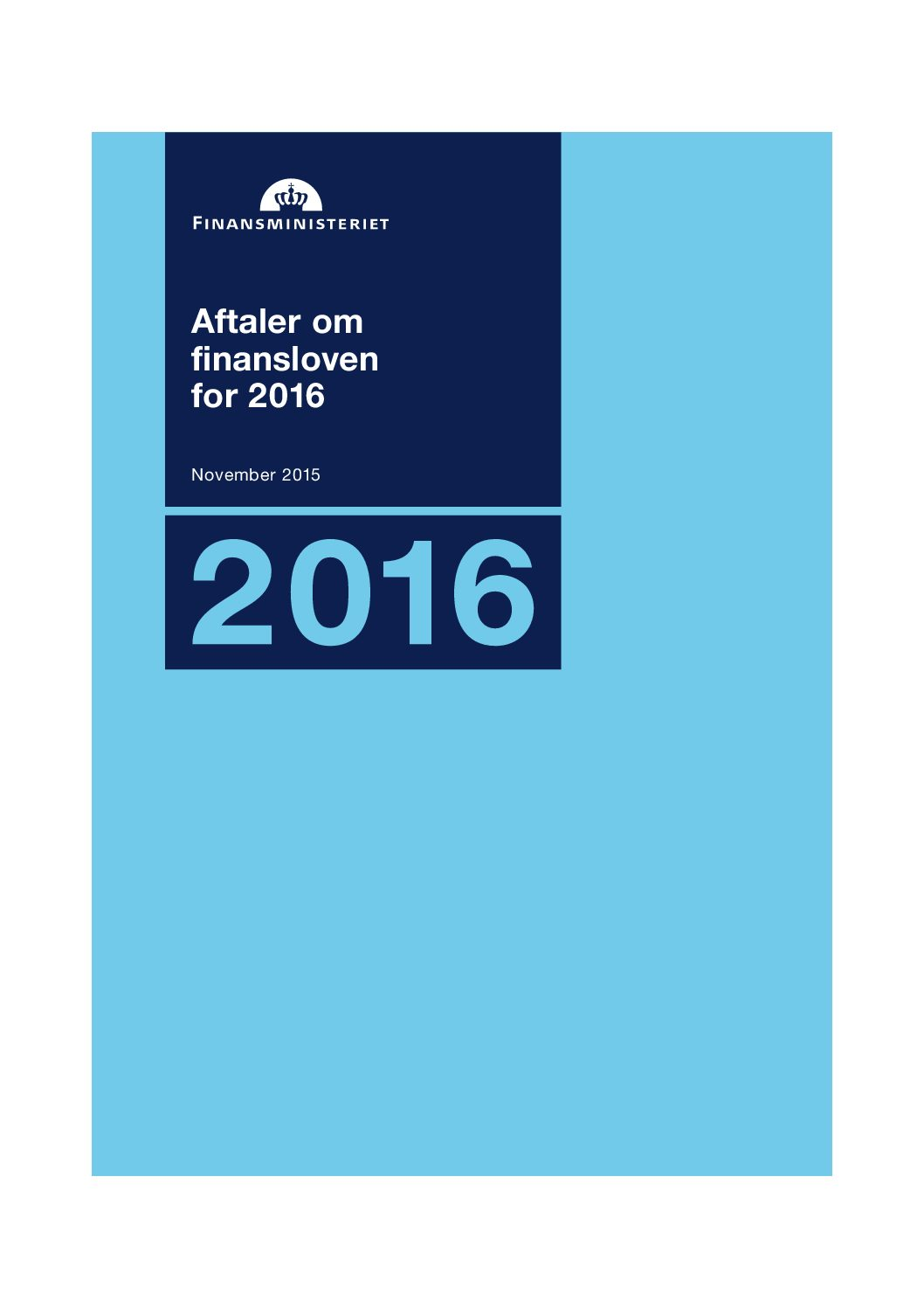 Finanslovsaftalen for 2017