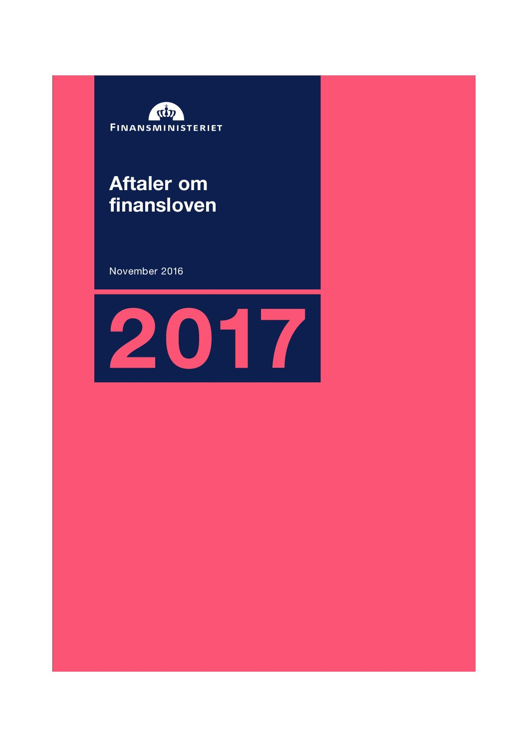 Finanslovsaftalen for 2016